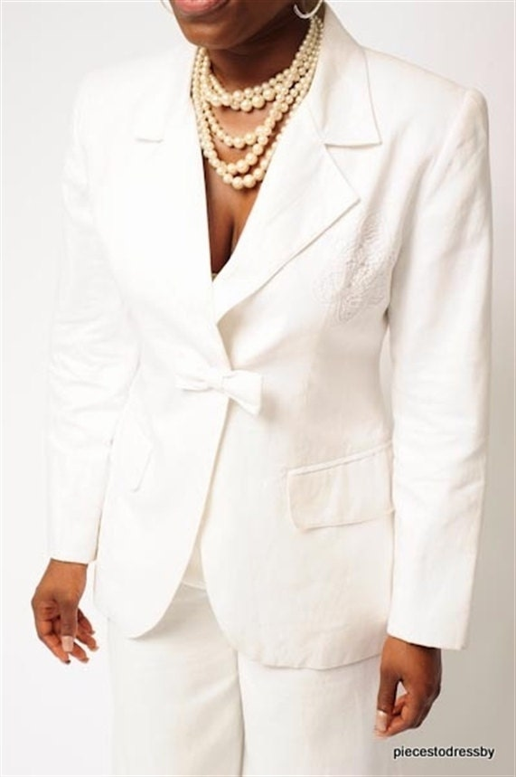 Creative Book Of Womens White Linen Pants Suit In Uk By Jacob U2013 Playzoa.com
