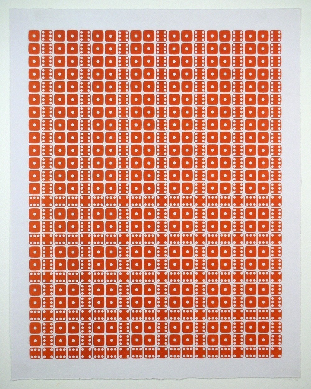 Letterpress Dice Print - Sigma Hydrae