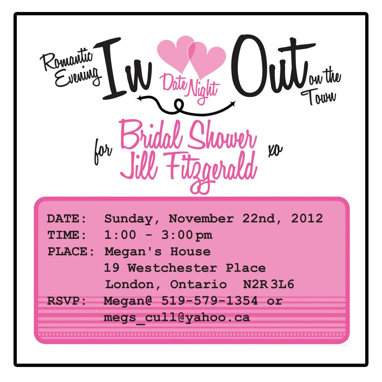 Bridal Shower Invitation Date Night Theme by MERRILYDESIGNS
