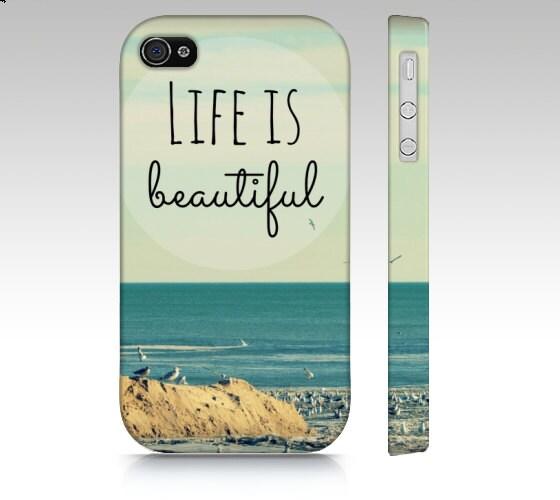 Life is Beautiful - Hard Cell Phone Case - Beach, Ocean, Sea, Blue ...
