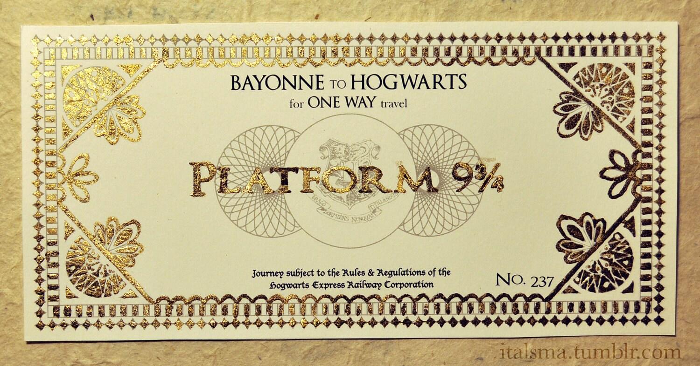 Билет на поезд в хогвартс своими руками 45
