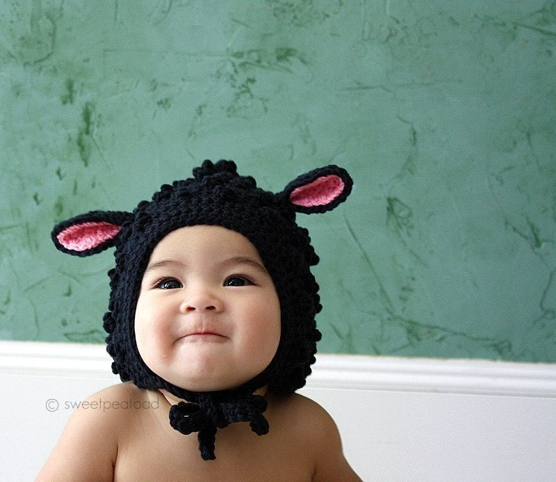 Little Lamb Hat (Organic Cotton) - size from 3mos to 5T (Featured in Real Simple Mag)
