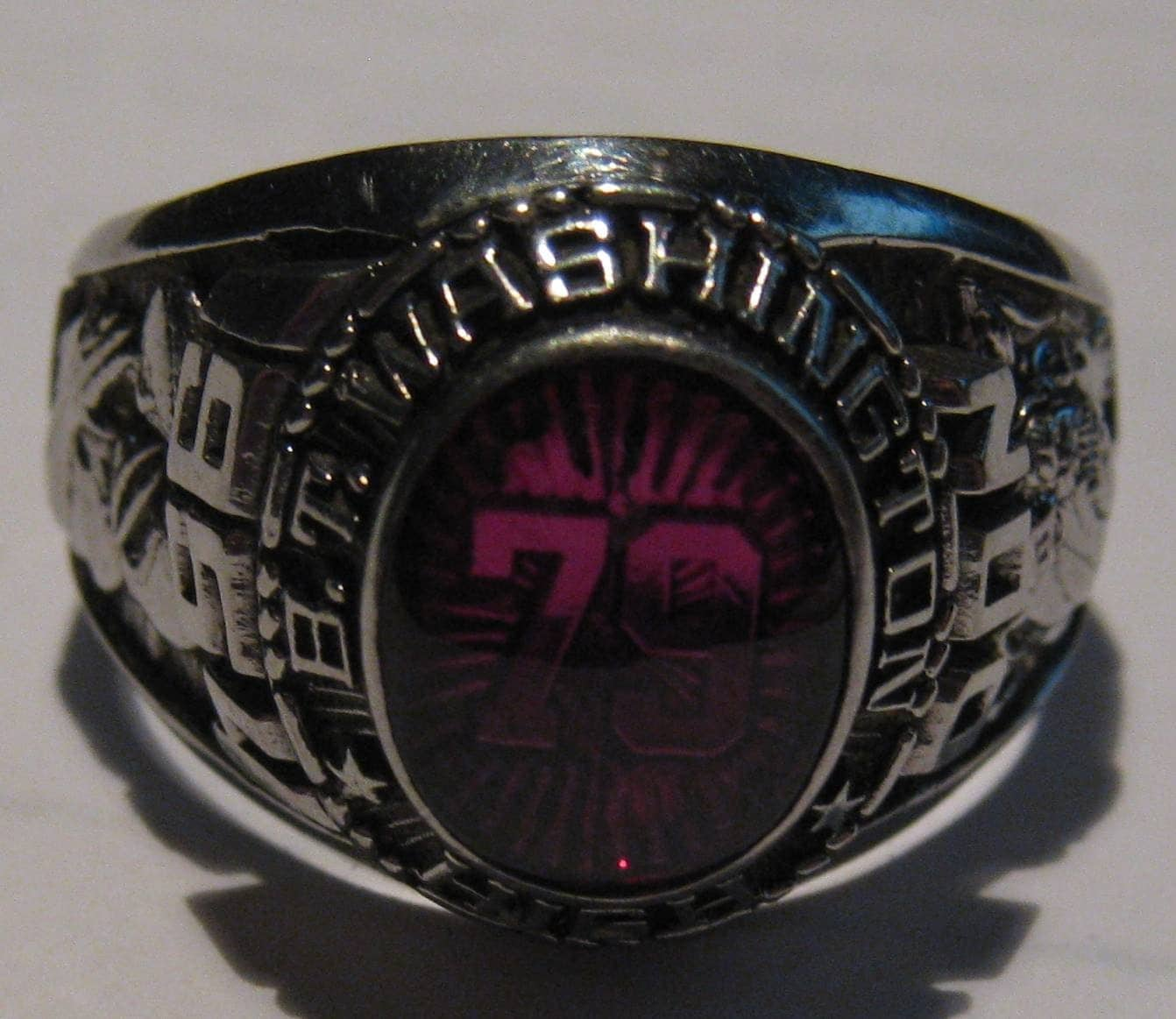 Large Vintage 1954 Siladium Class Ring From By