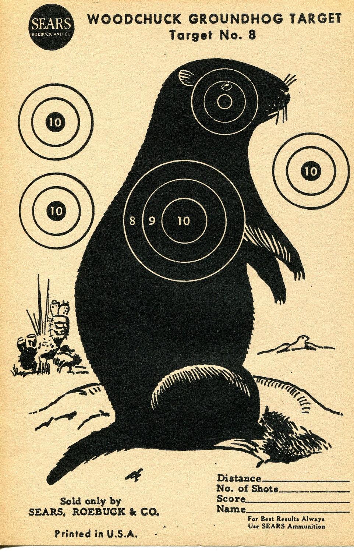 Vintage Shooting Target Groundhog III by WindsorPlaceAntiques