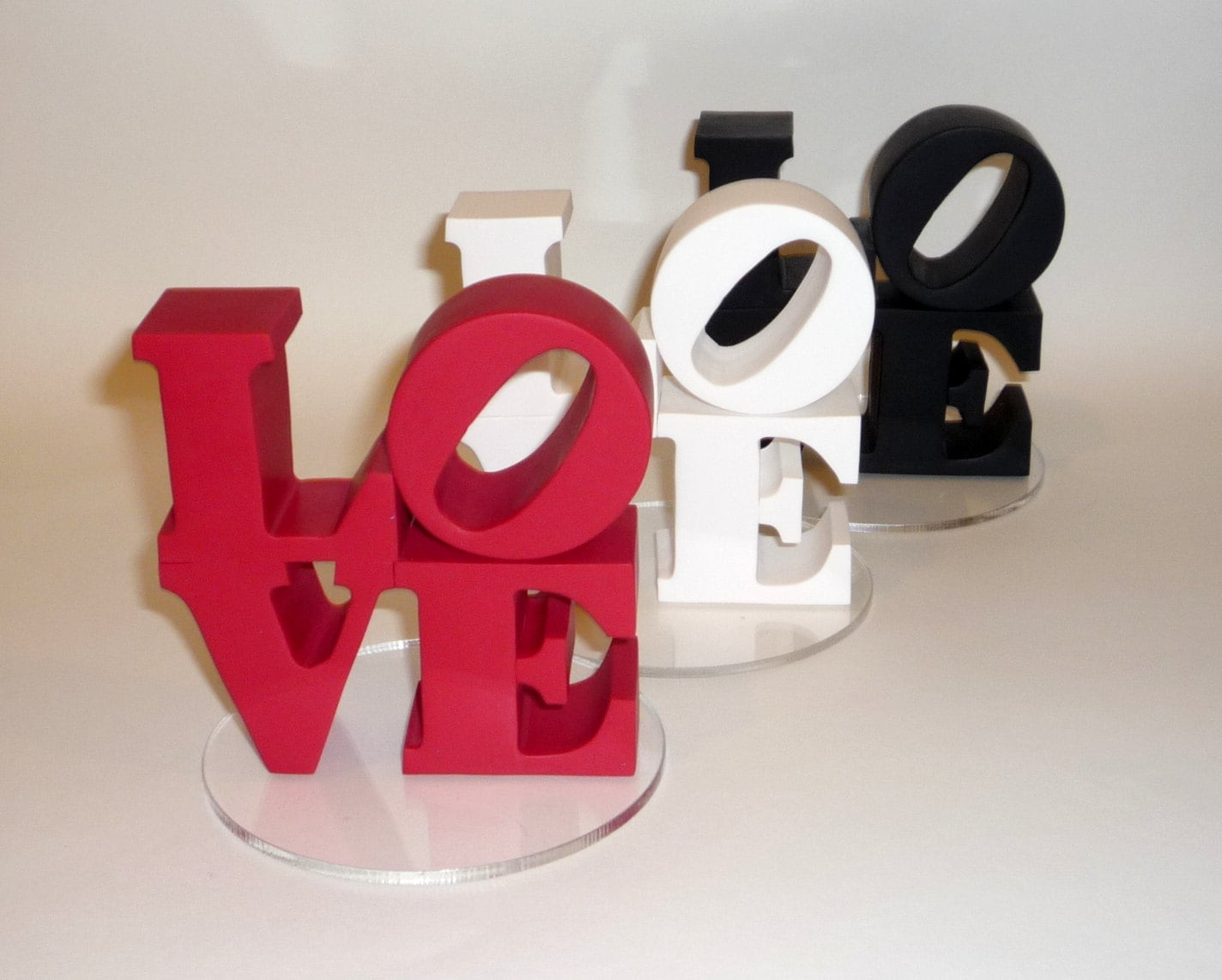 Love Wedding Cake Topper Standard Colors By BlueButterflyDesign