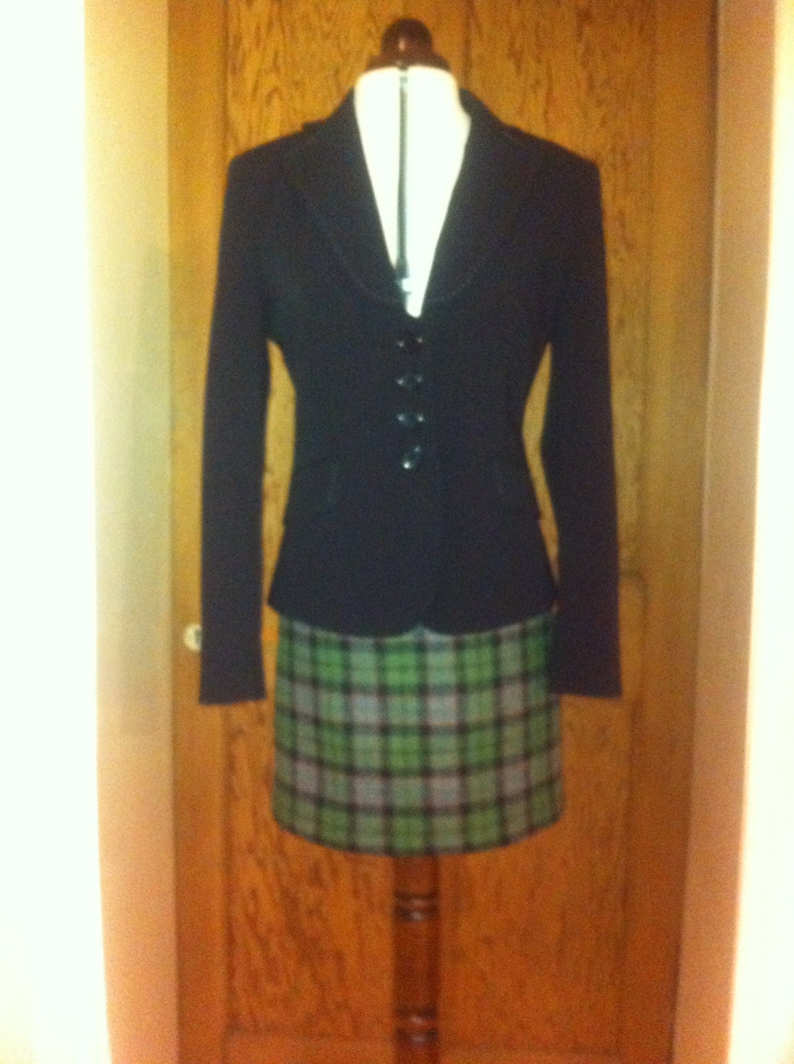 Harris tweed mini kilt skirt womans gift tartan made in Scotland