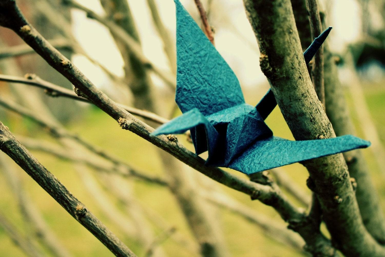 Help Japan- origami crane photo print