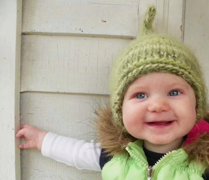 Winter Pixie baby hat or
