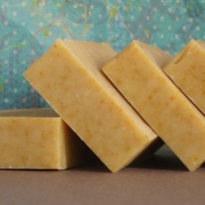 Fresh and fragrant citrus bergamot and grapefruit goat milk soap