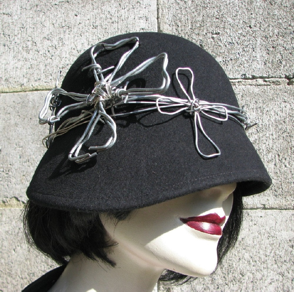 Etsy :: Barbed Wire Cross Cloche from etsy.com