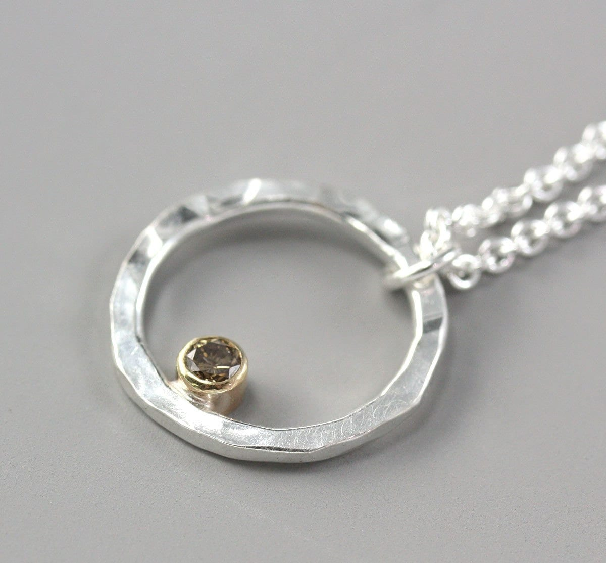 items similar to small silver circle necklace hoop