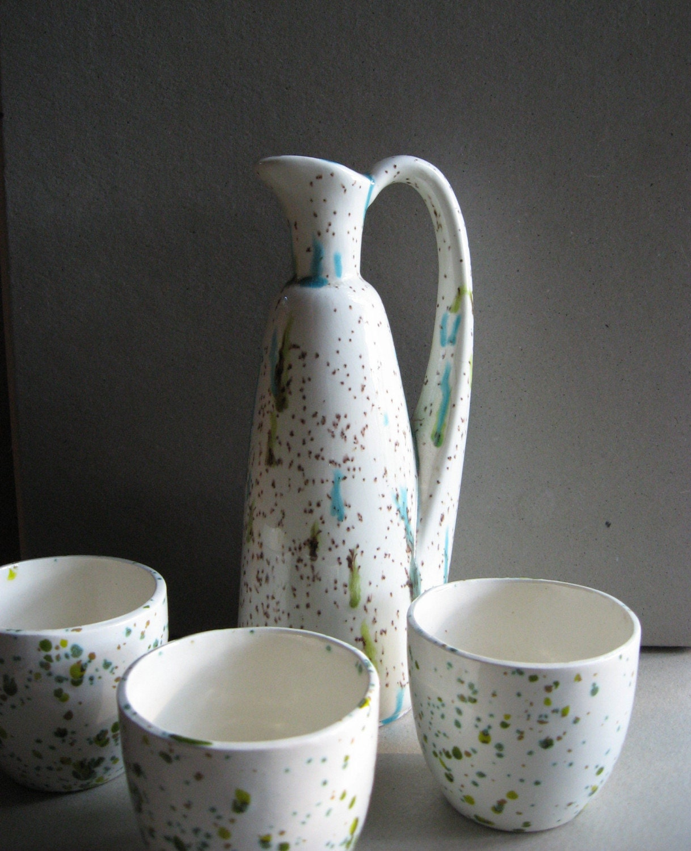 SALE Vintage Decantur and Cups