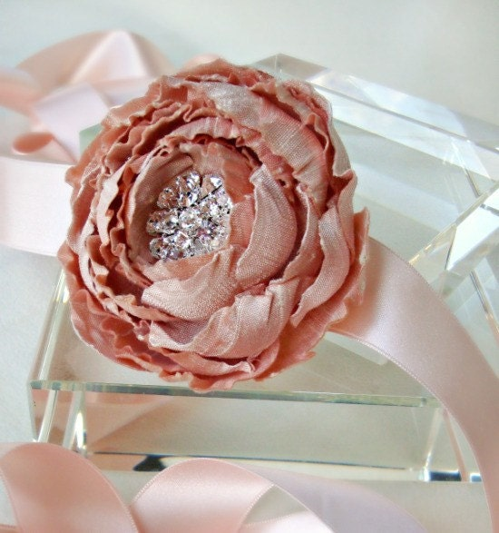 Catala Blush Bloom Bridal Sash