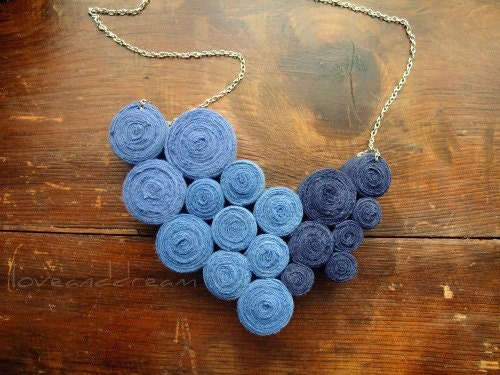 Ocean Fibre Bib Necklace