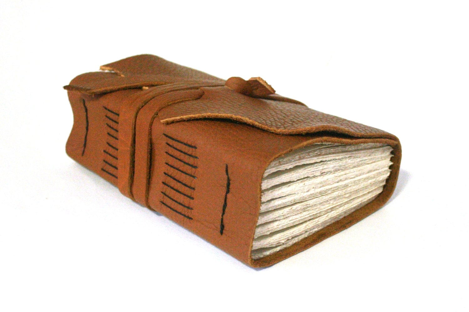 hand bound recycled leather notebook journal