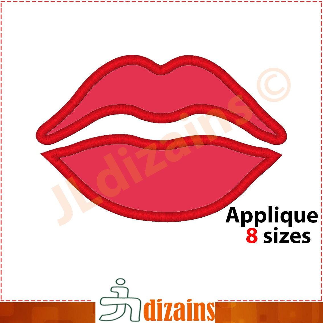 Дизайн губы машинной вышивки 96