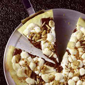 Feeding Big Sexy Smore's Dessert Pizza
