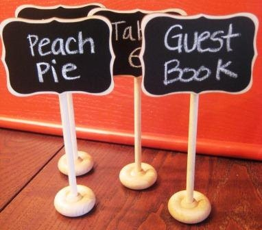 Fancy Mini Chalkboard Stands with Chalkboard Label  --- Place Settings, Food Marker, Wedding Chalkboards, Rustic Wedding