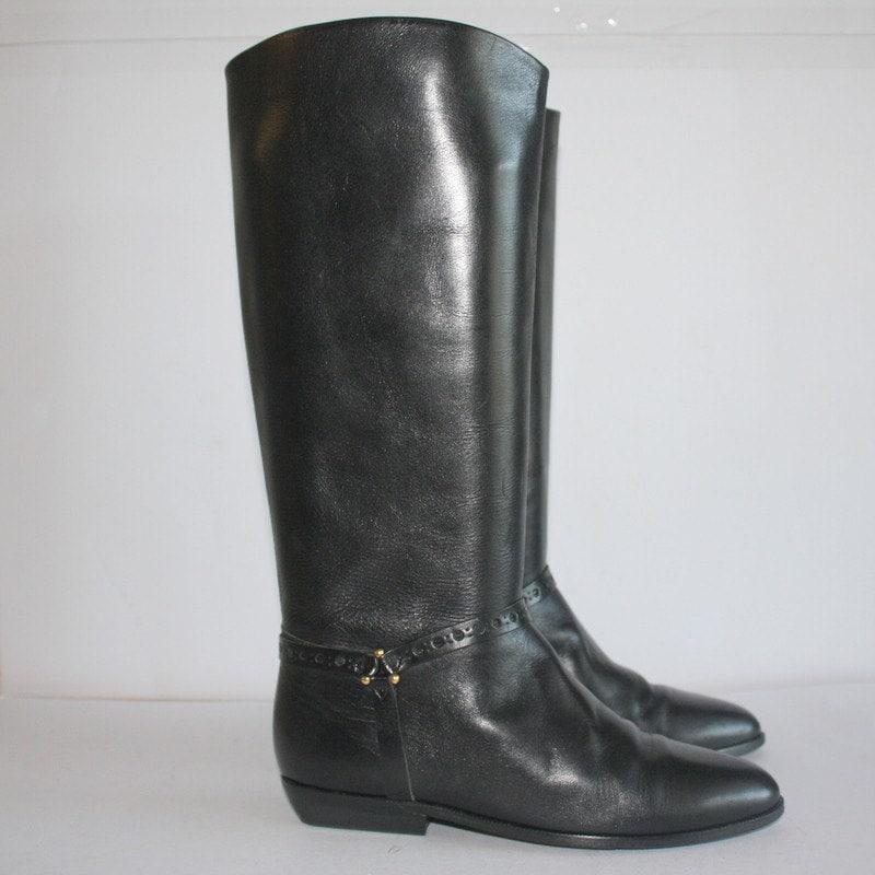 sz 8 vintage etienne aigner leather boots by