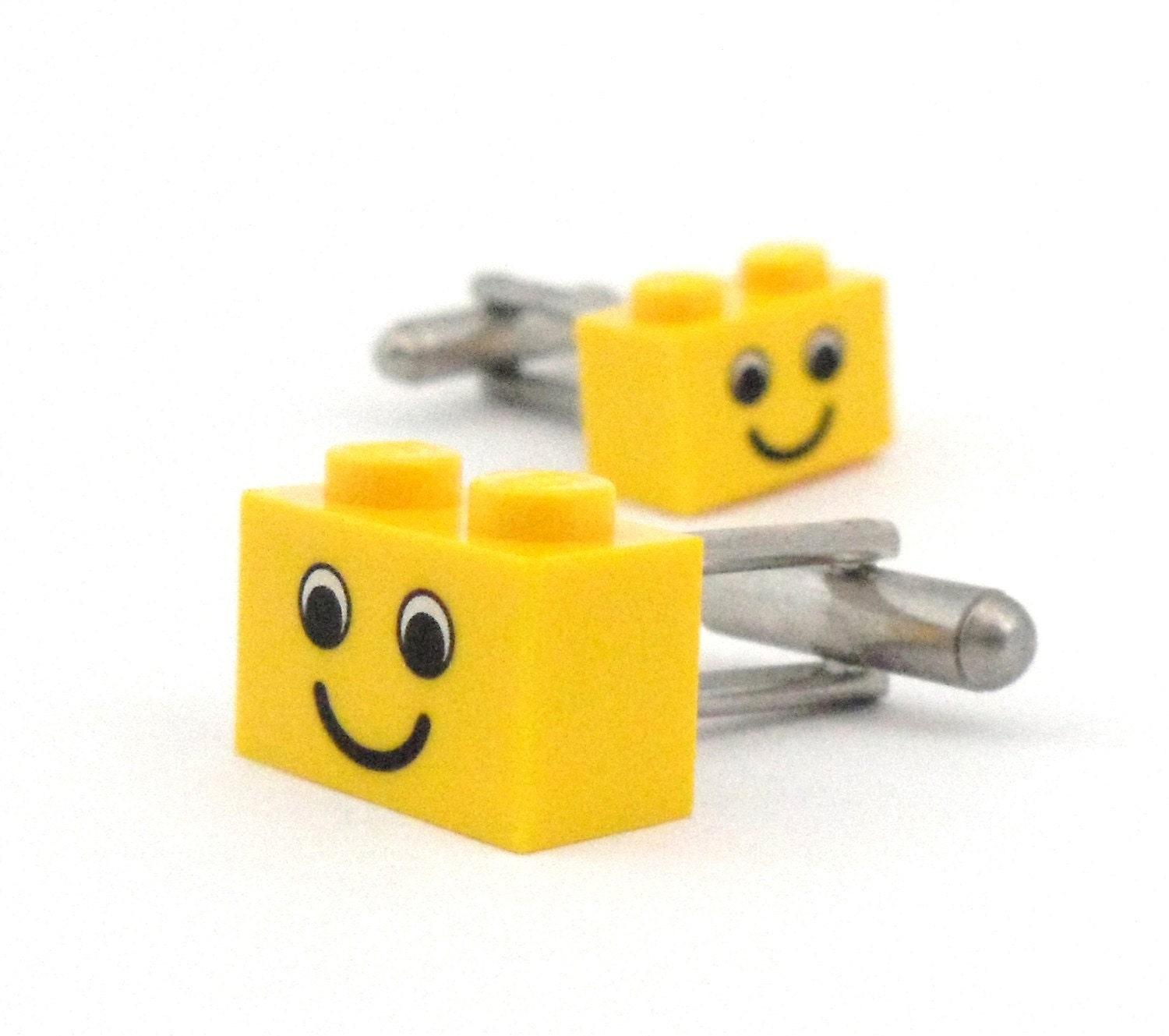 LEGO Smiley Head Brick Cufflinks
