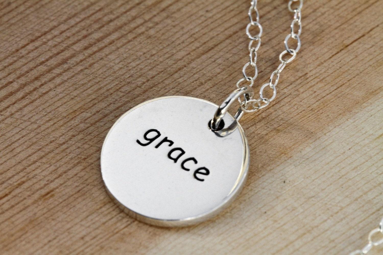 Silver Grace Charm Necklace