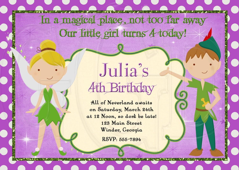 Peter Pan Birthday Invitations as great invitation sample
