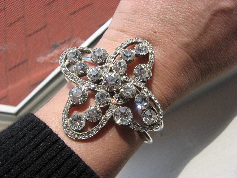 Cross my heart a one of a kind brooch bracelet