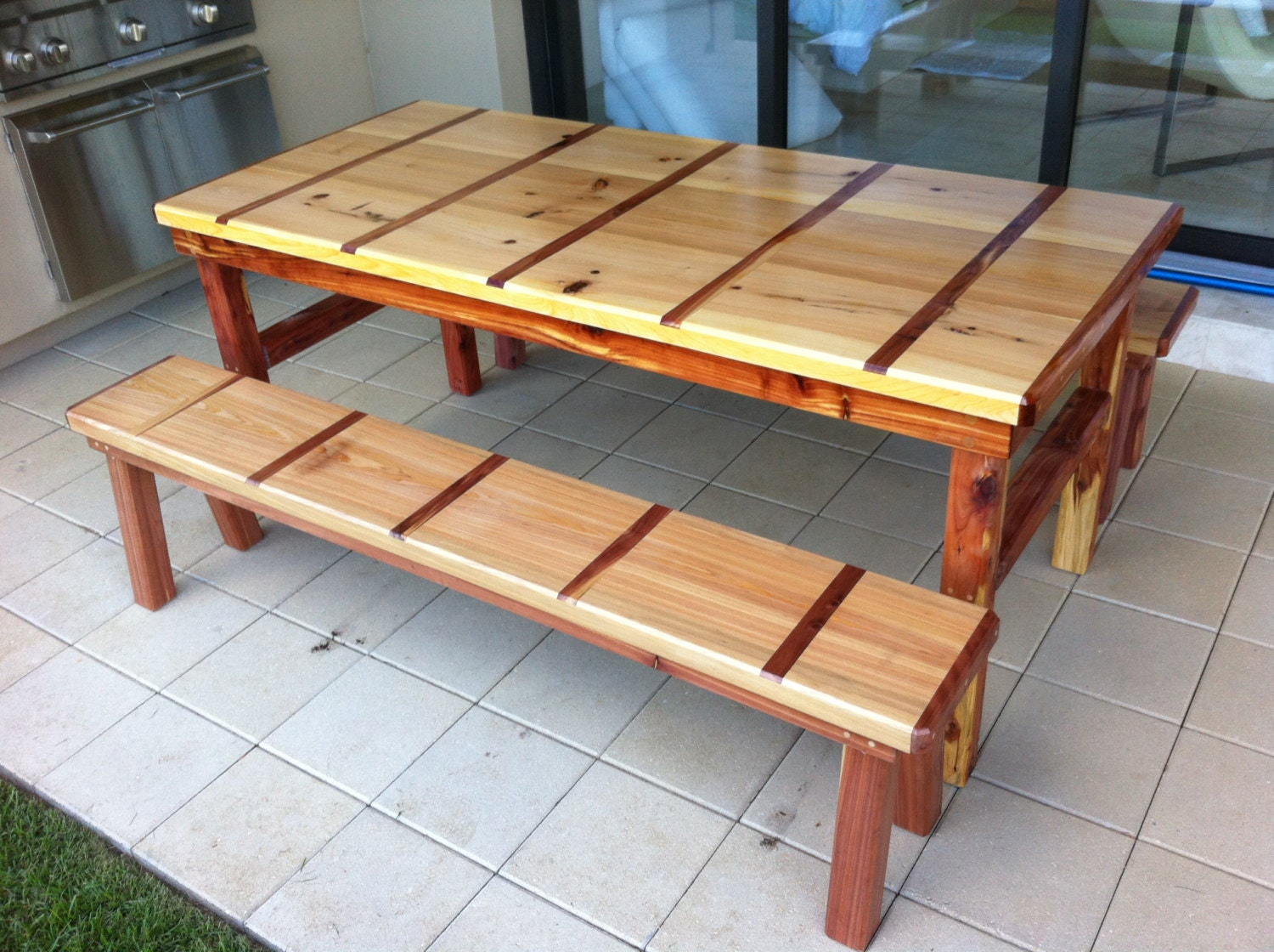 Cypress And Red Cedar Dining Table By DustysTables On Etsy
