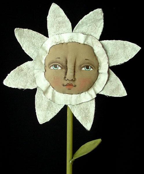 FLEUR BLOSSOM-- Contemporary folk art Doll