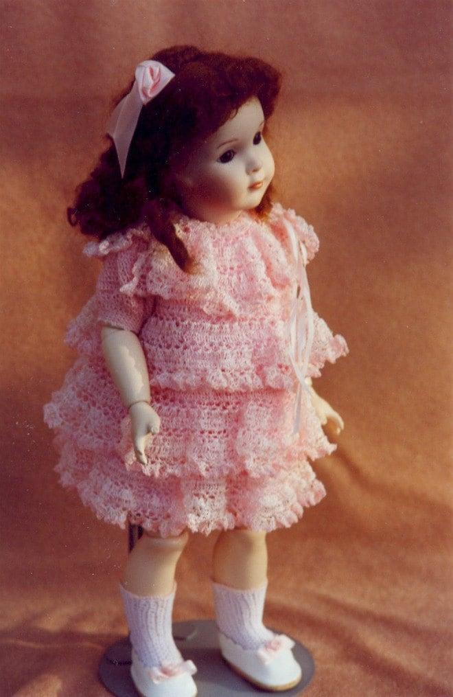 Crochet Pattern Dolls Baby Dress Panties Socks by ...