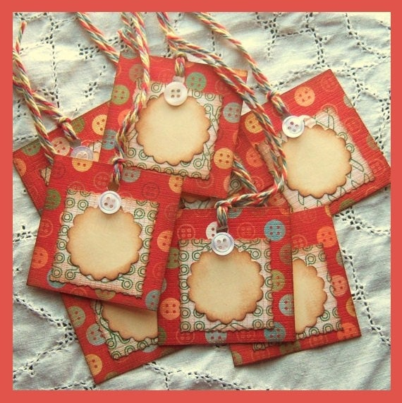 Button Hang Tags - Vintage Inspired -