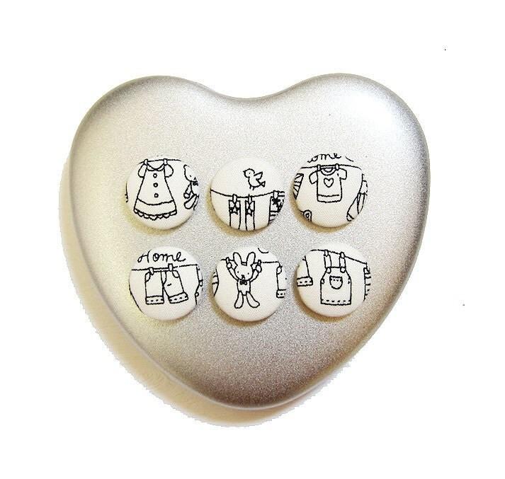 Ткани крытый кнопки Магниты - Сладкая Прачечная