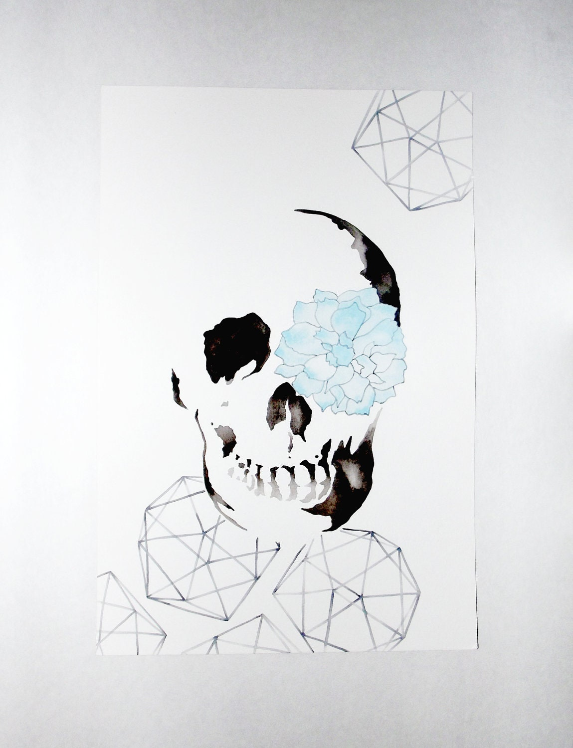 Sugar Skull - Original Watercolor
