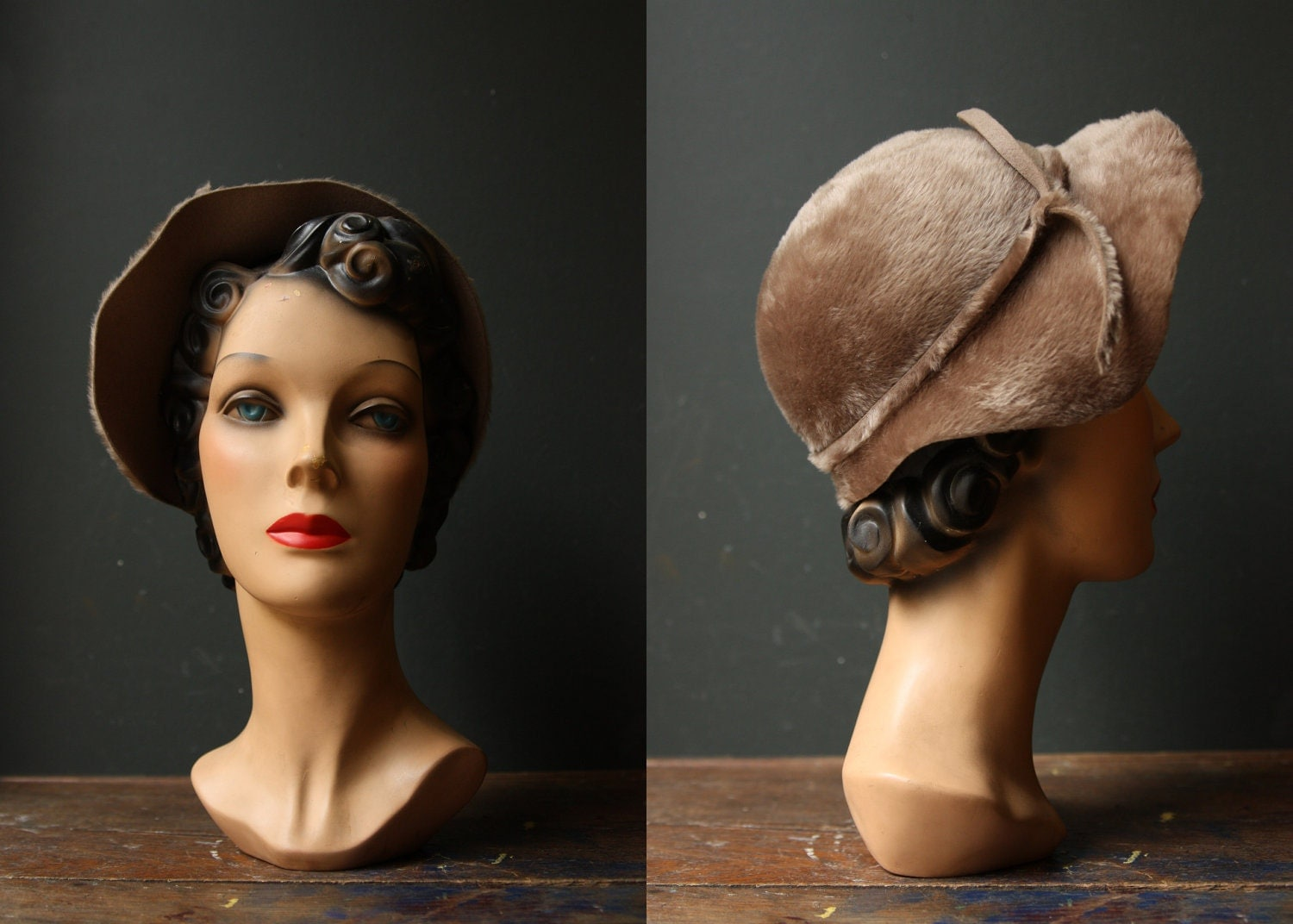Cloche Hat / Brown Soft Fur