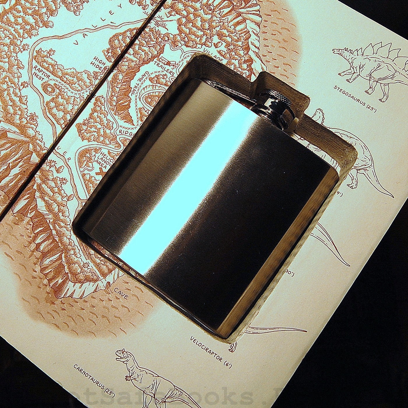 Hollow Book Flask Safe (Flask Included) The Lost World by Michael Crichton