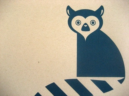 Lemur Screenprint (9x13)