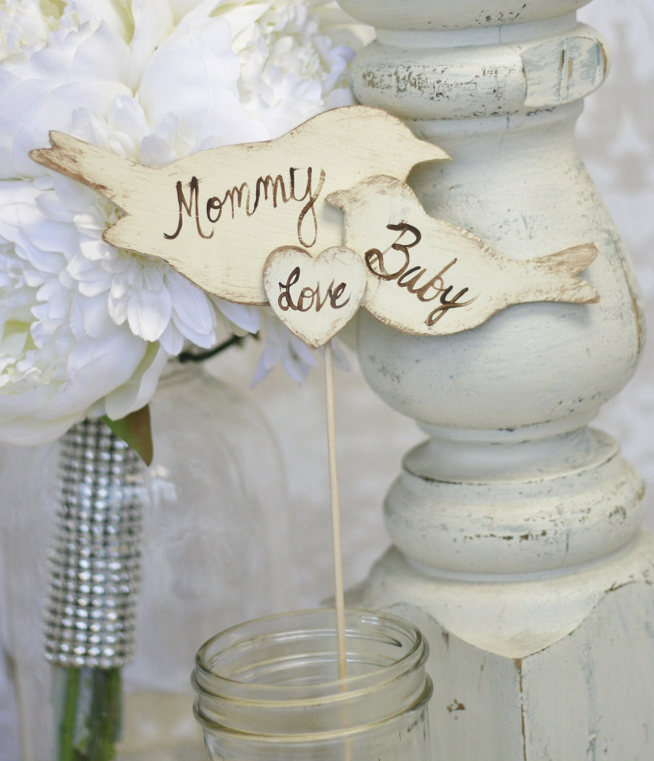 items similar to baby shower cake topper rustic chic party item