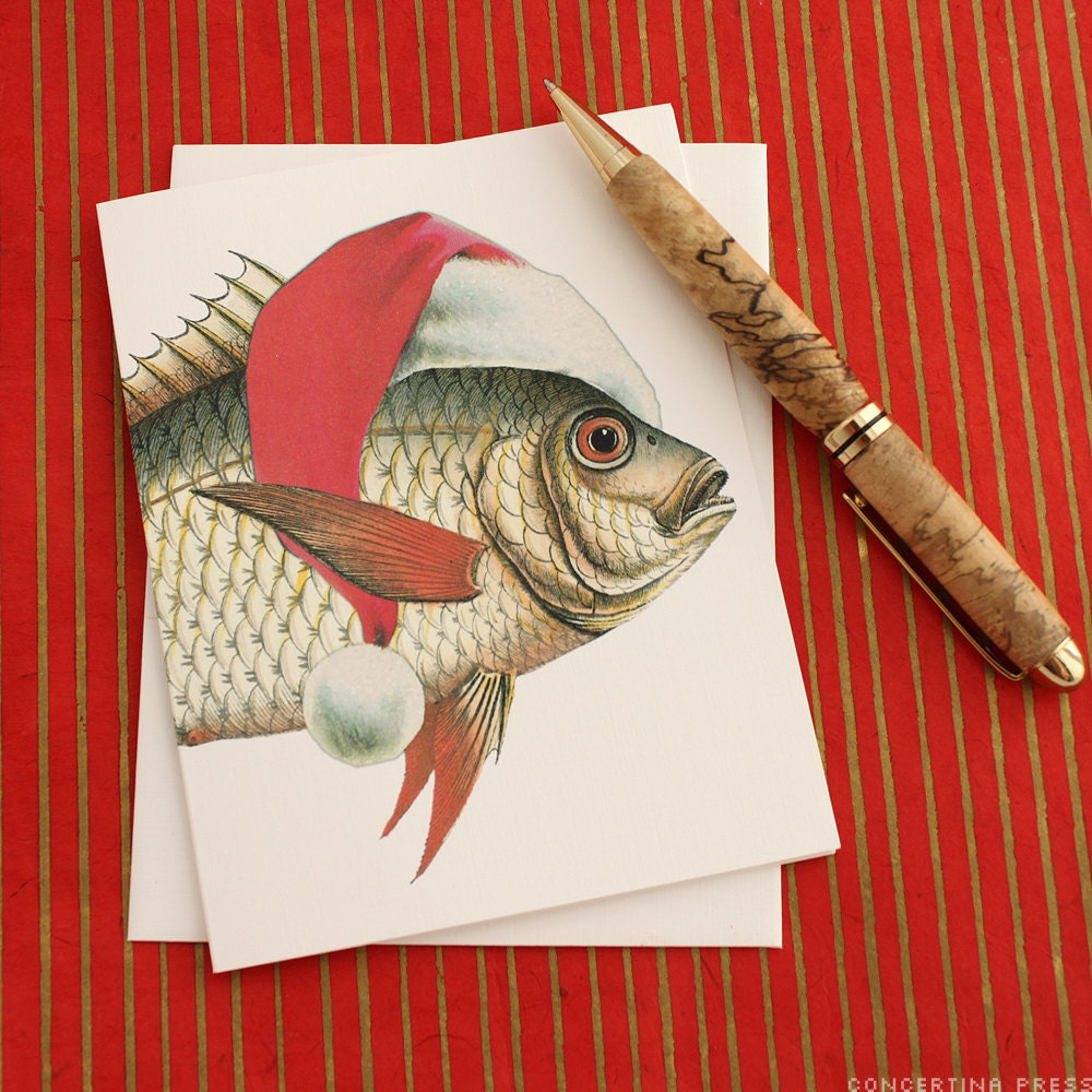 Merry Fishmas Christmas Card by Concertina Press