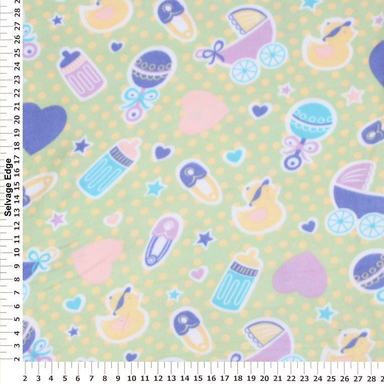 Baby toys fleece fabric by the yard by reneeschoicefabrics for Baby fabric by the yard