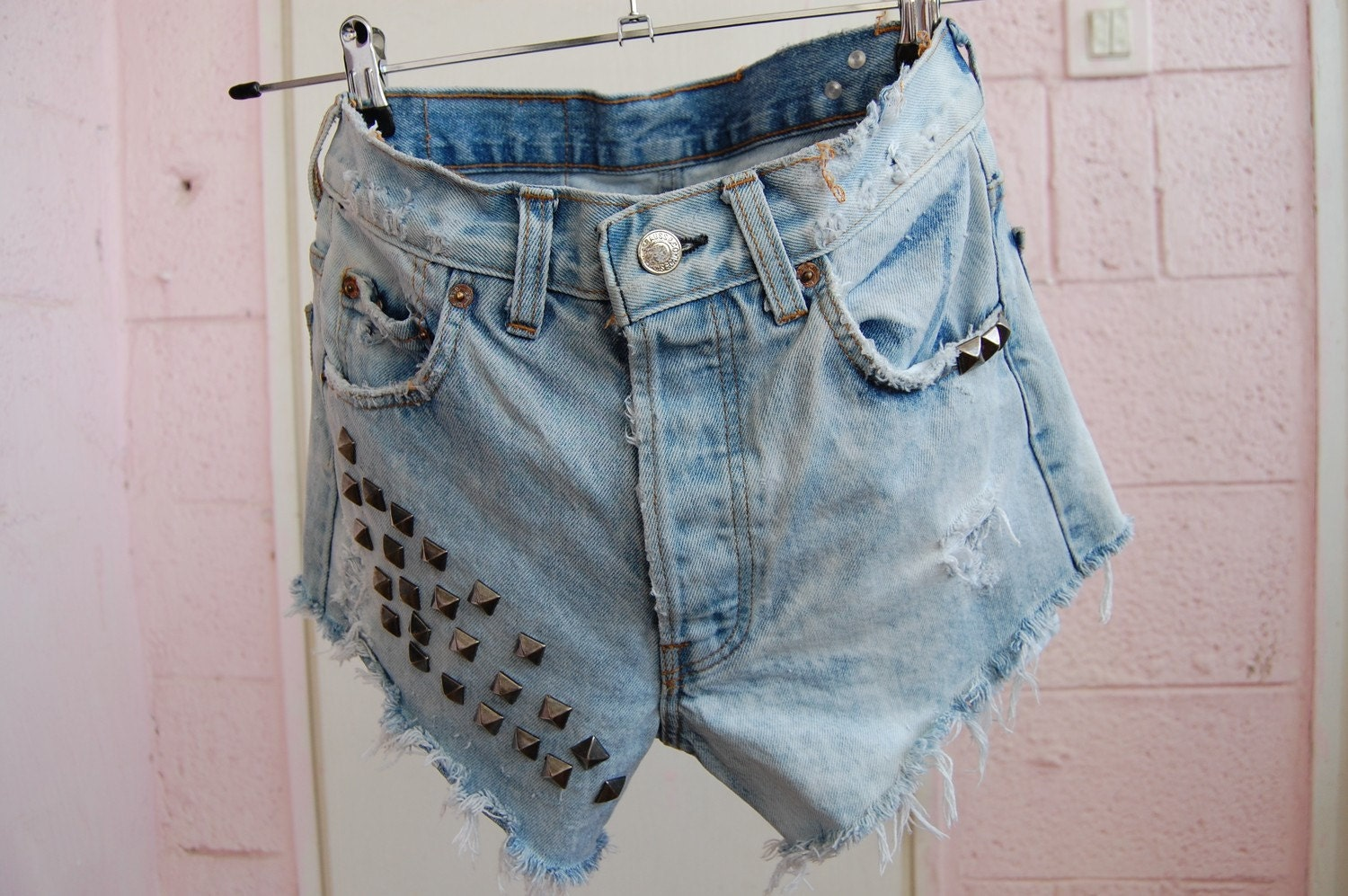 studded levis 501'
