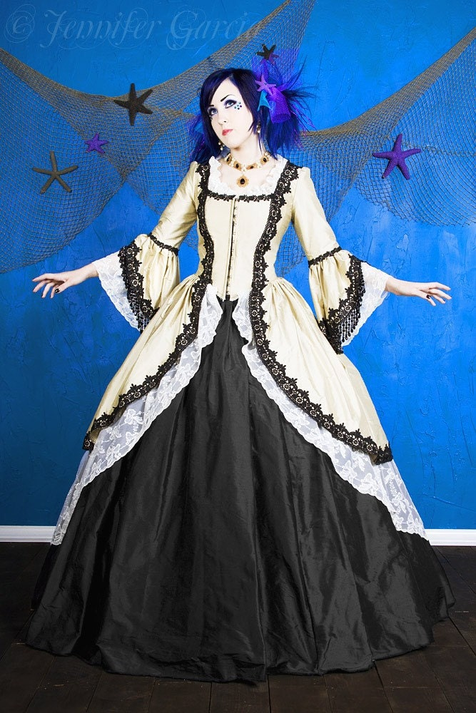 Gothic Steampunk Pirate Marie Antoinette Gown Custom