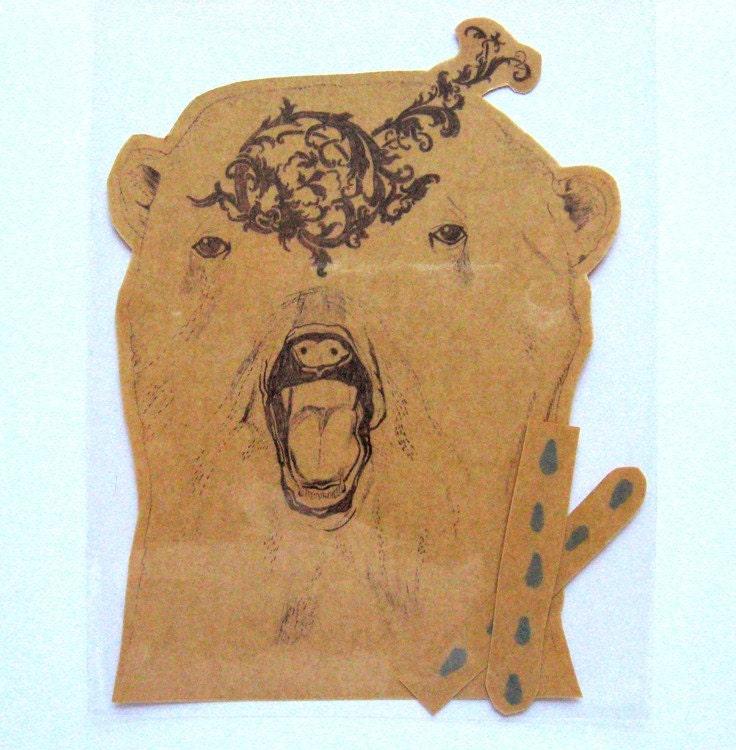 POLAR BEAR temporary tattoo. From elliecryer