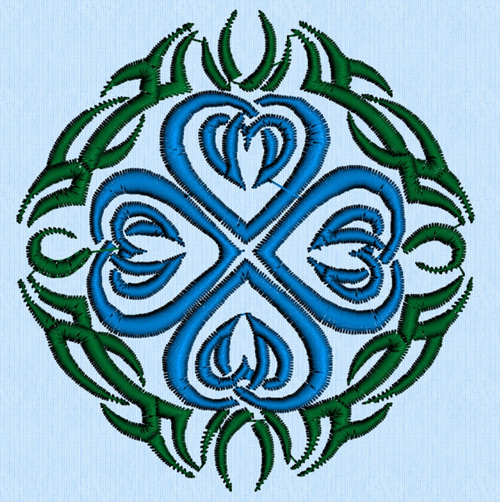 celtic hearts tribal tattoo machine embroidery design by lynellen. Black Bedroom Furniture Sets. Home Design Ideas