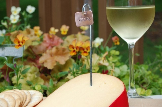 Wine and Cheese Party Markers Set of 5