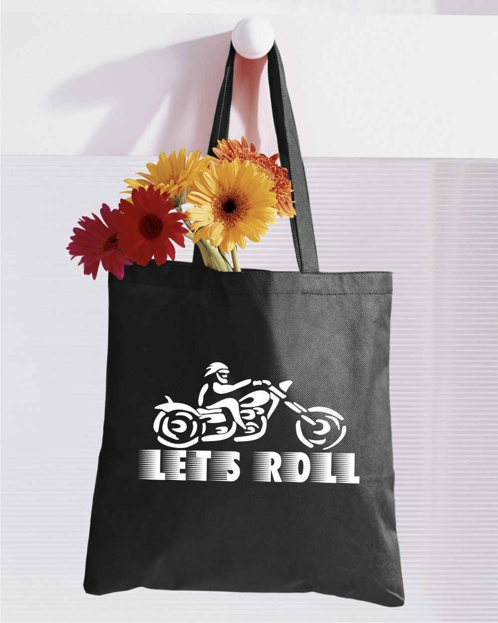 Let's Roll - Hot Little Canvas Biker Tote