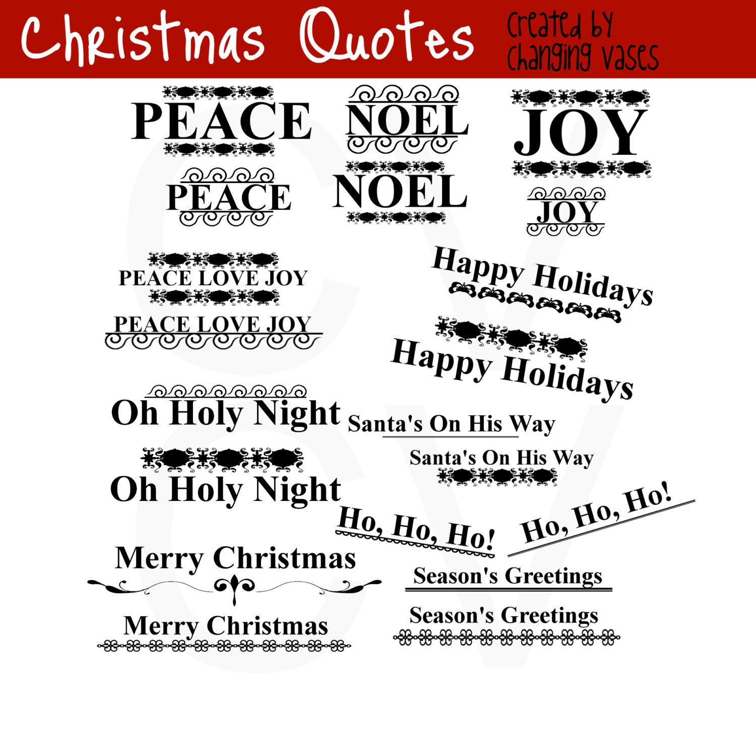 50 off christmas word art collection 20 quotes words and phrases