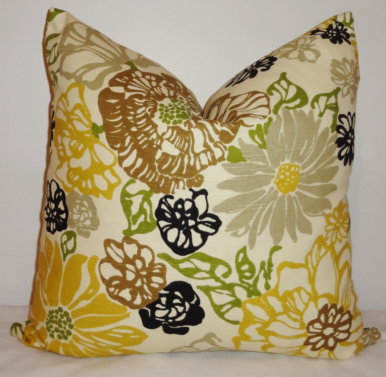 Yellow Brown Throw Pillows : Decorative Pillow Black Yellow Brown Richloom by HomeLiving