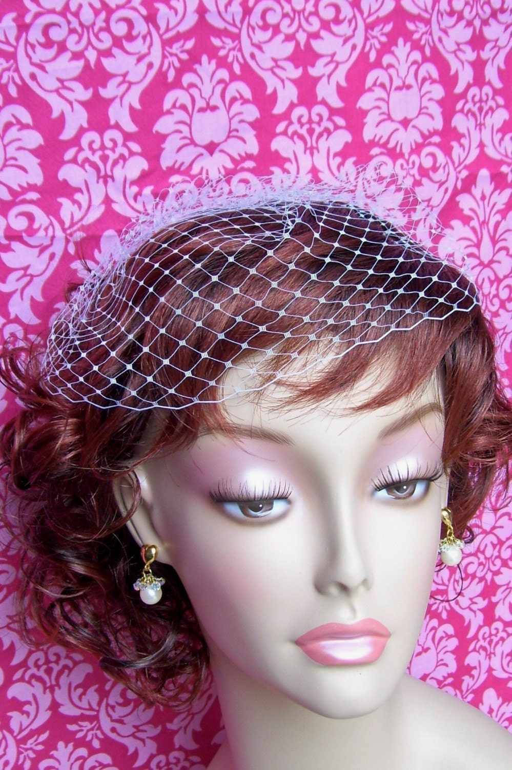 The CARLIE BirdCage Veil  white or ivory  free shipping