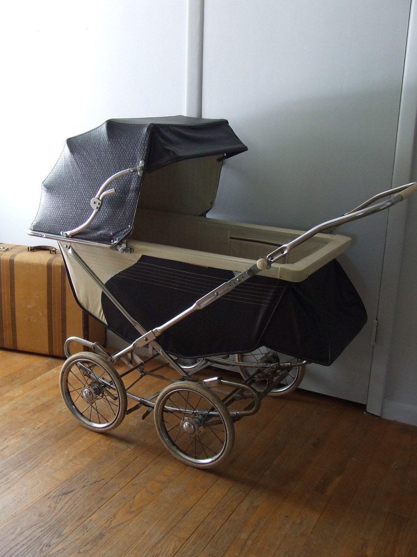 1955 Vintage Stork Line Pram Baby Stroller By