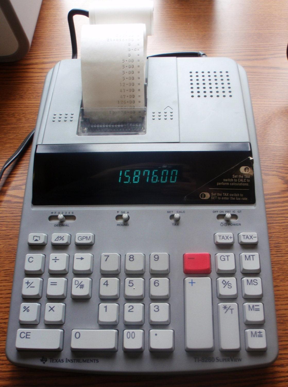 instruments adding machine